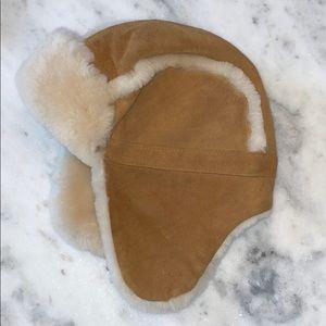 UGG Australia Shearling Kids Fur-Lined Trapper Hat